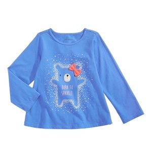 NWT First Impressions Long Sleeve Bear Top 12mo